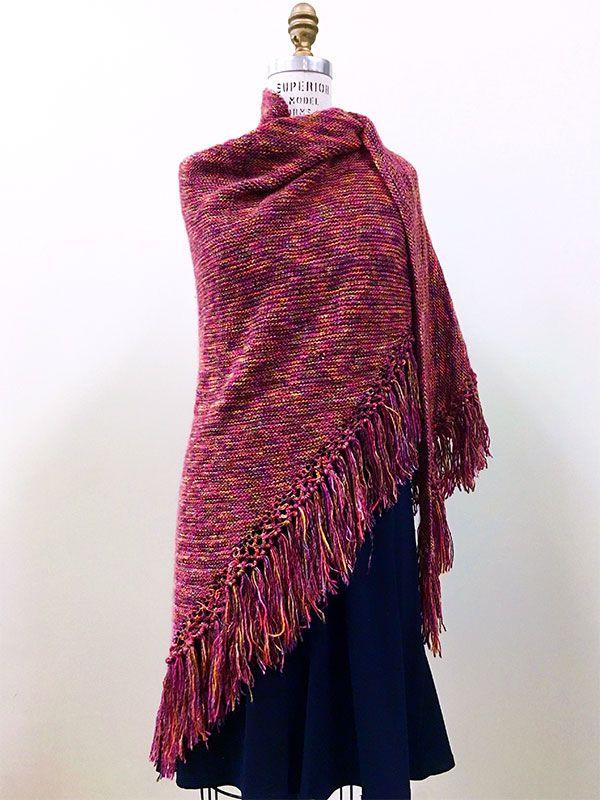 Meadowsweet, a free shawl knitting pattern knit in Berroco Boboli ...