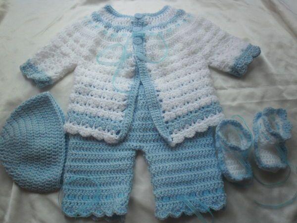 4e909c7bd72 Cute baby set | crochet | Crochet baby clothes, Crochet baby, Baby ...