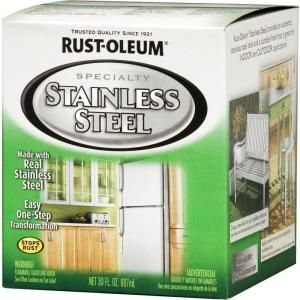 For Appliances Rust Oleum Specialty 30 Oz Stainless Steel Satin Paint 2 Pack 247963 At The Home De Stainless Steel Paint Painting Appliances Faux Painting
