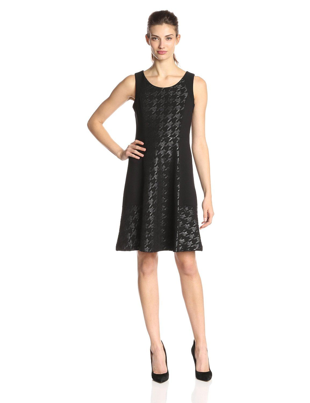 Charlie Coated Houndstooth Dress by NYDJ | Houndstooth dress ...