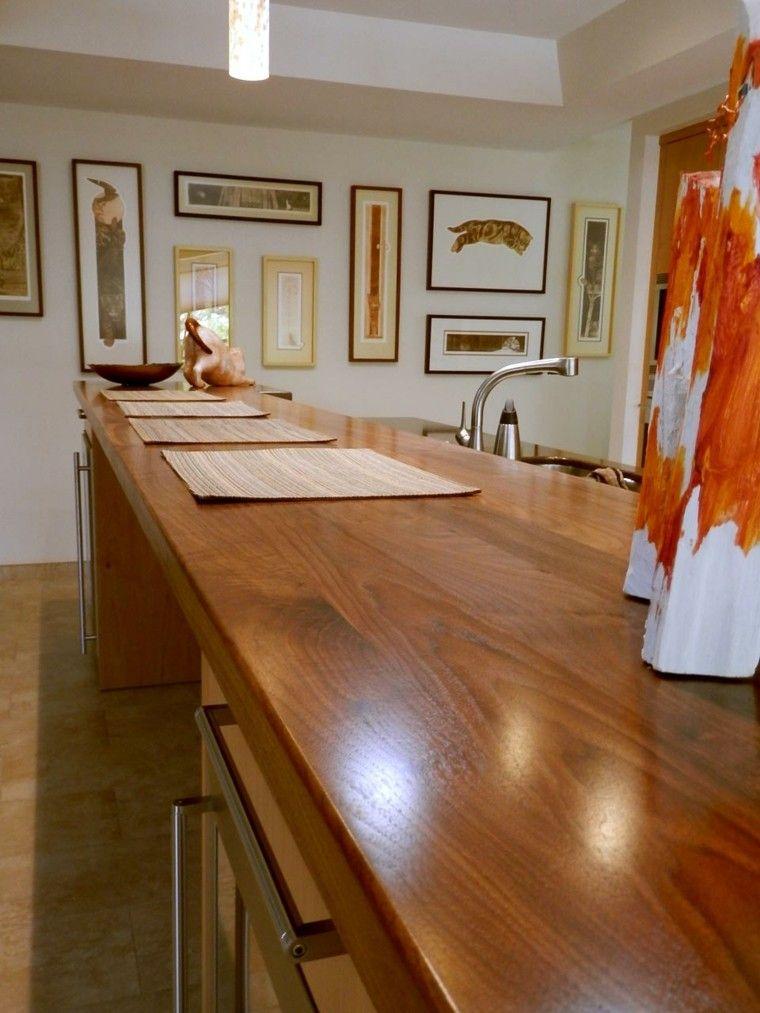 Encimera de madera | Cocinas Integrales Mödul Studio | Cubiertas ...