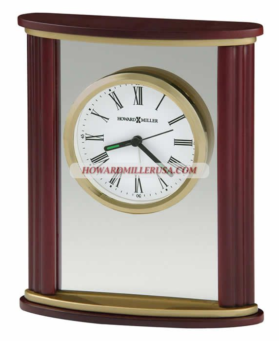 Howard Miller Wood And Glass Alarm Clock Table Top Clock Victor 645623 This Handsome Wood And Glass Alarm Clock Features Co Clock Tabletop Clocks Howard Miller
