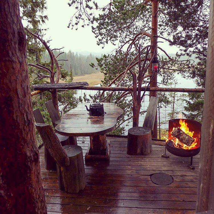 treehouse balcony deck overlooking lake Deck, Outdoor