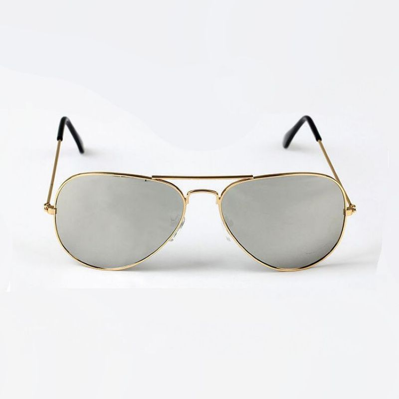 596c500658 Aviator Sunglasses Mens   Womens Alloy Gold Frame Mirrored Silver Lens