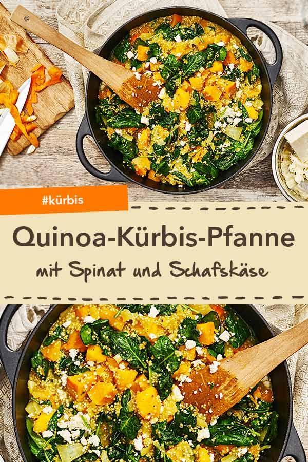 Quinoa-Kürbis-Pfanne mit Spinat #herbstgerichte