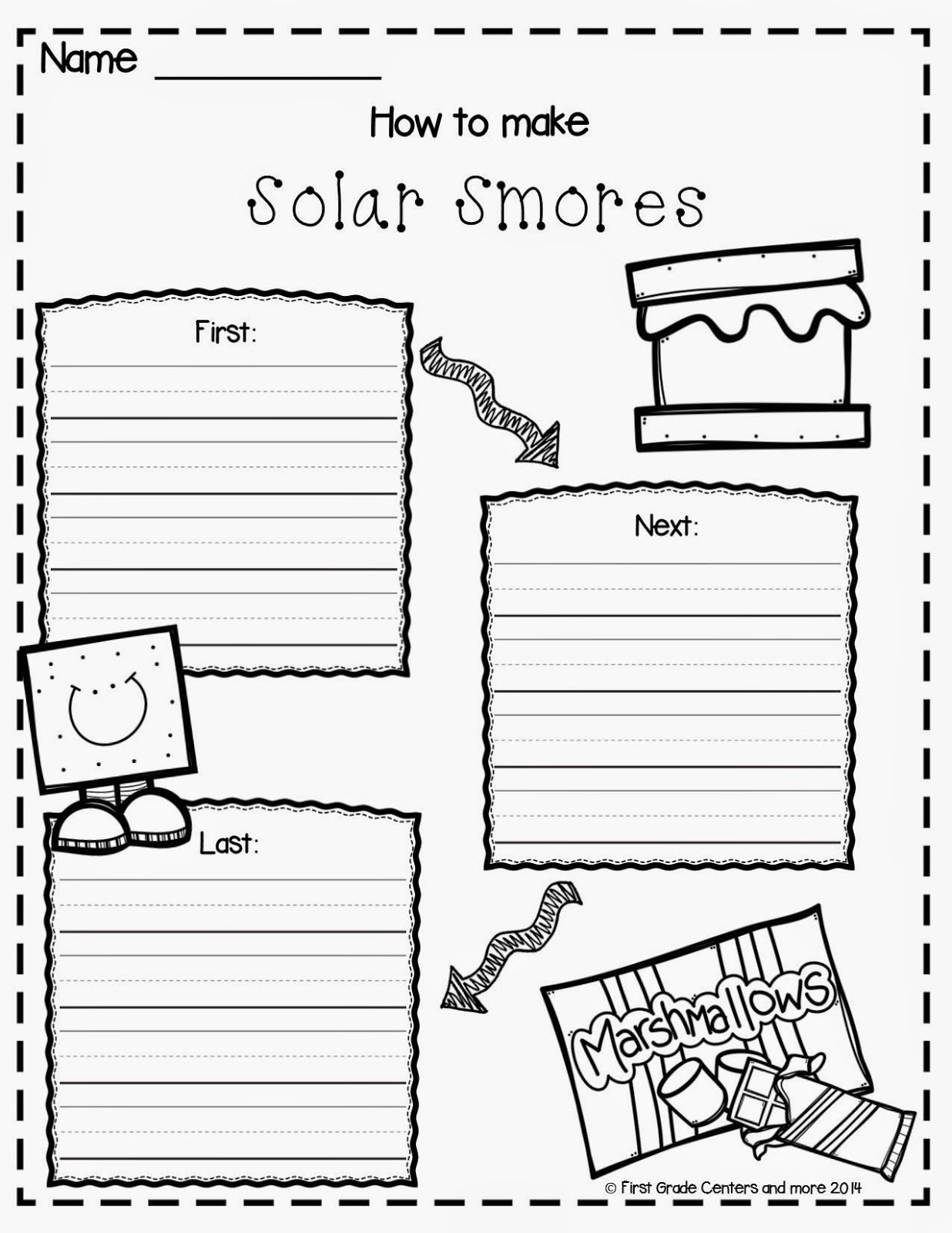 Solar Smores Writing Freebie