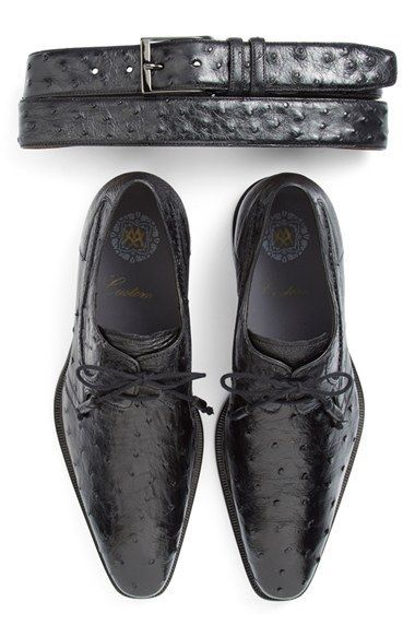 Mezlan 'Romano' Ostrich Plain Toe Derby (Men) available at #Nordstrom