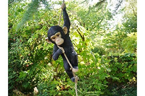 Chimpanzee Growling Statue Figurine 6 Statue Home Garden