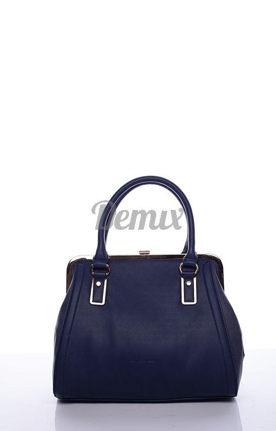 fcf4bb5f9b4c Elegantní dámská tmavě modrá kabelka do ruky Bun od DAVID JONES ...