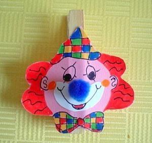 Basteln Für Fasching bastelsachen3 basteln fasching clown rote haare farsang