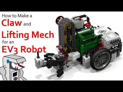 Make a Claw and Lift Mechanism for your EV3 Robot - YouTube | LEGO
