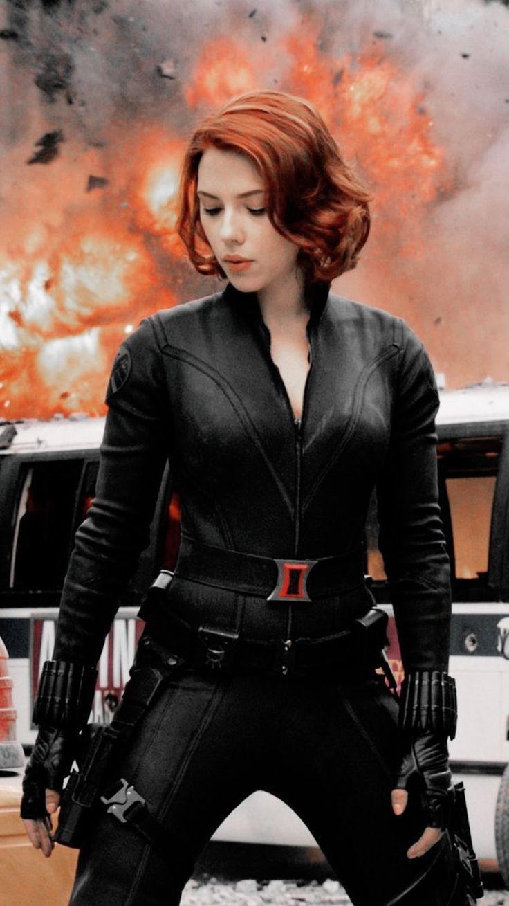 Black Widow Jacket Leather Costume for Womens