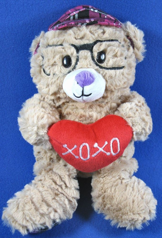 c9417a2085e Animal Adventure 2017 Valentine Plush Teddy Bear w Glasses XOXO Soft  Stuffed Toy  AnimalAdventure  ValentinesDay