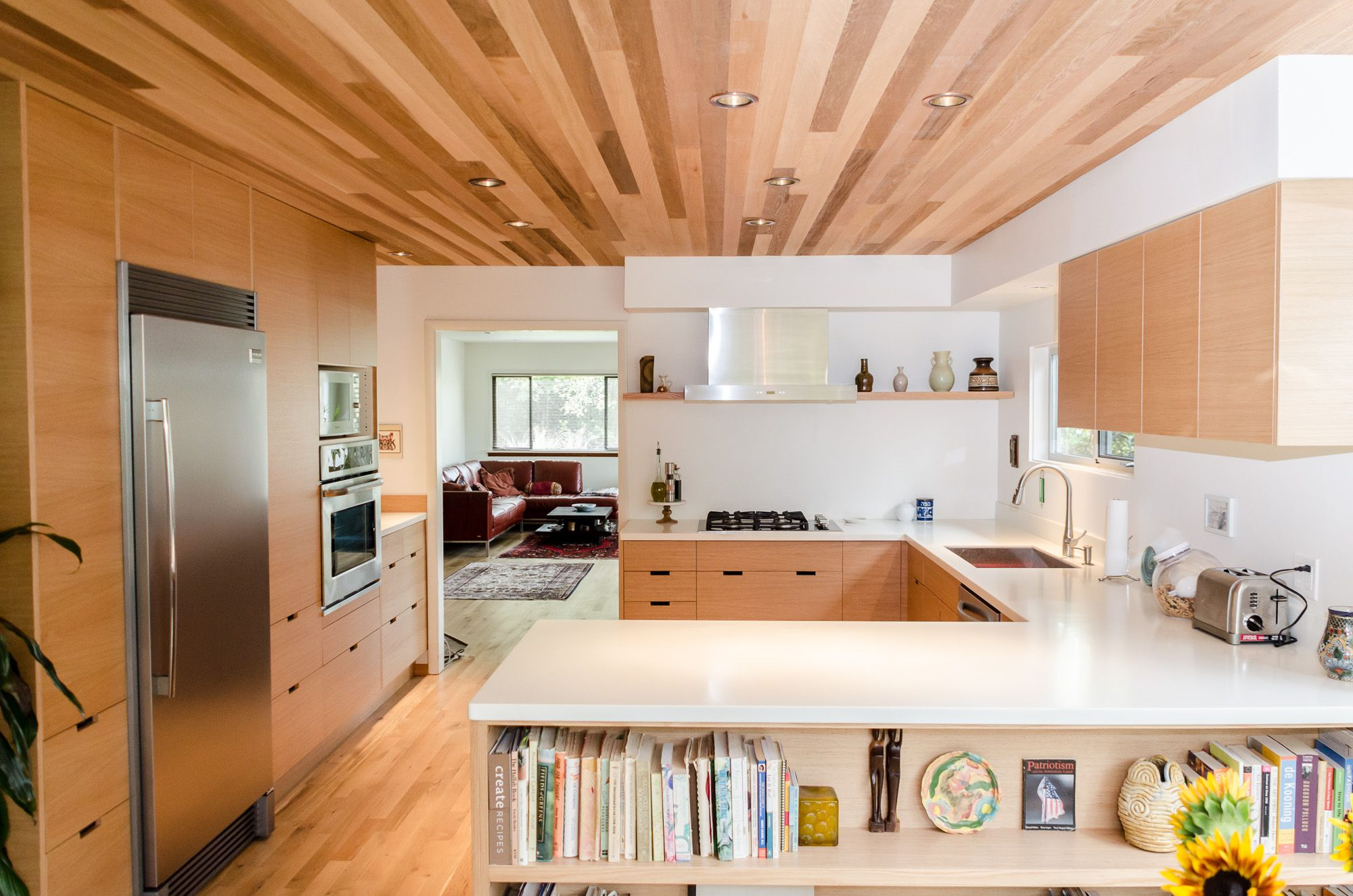 Kitchen remodel white oak custom doors for ikea cabinets unhinged