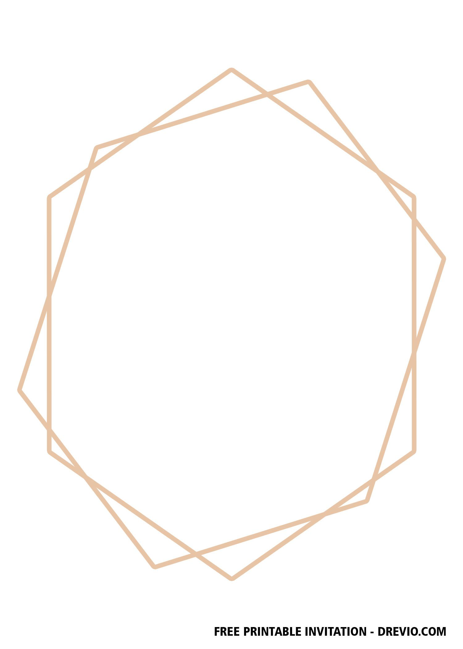 Free Gold Geometric Invitation Templates Geometric Invitations Gold Geometric Geometric