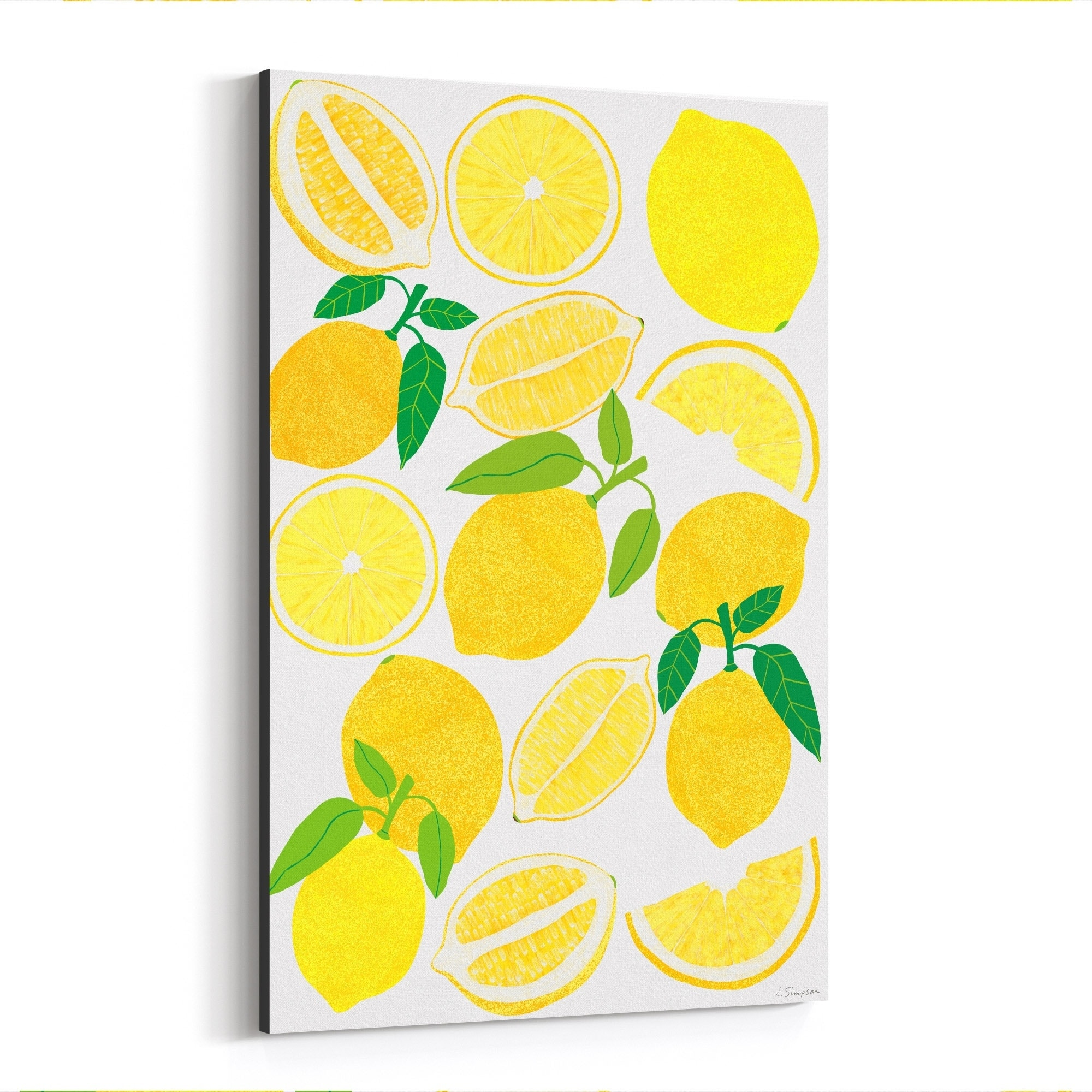 Noir Gallery Lemon Fruit Food Kitchen Canvas Wall Art Print 20 X 30 Yellow Canvas Kitchen Wall Art Kitchen Canvas Wall Art Prints