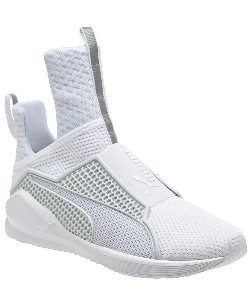 RIHANNA X @puma Women's Fenty-Trainer White Leather Sneaker #RIHANNAXPUMA