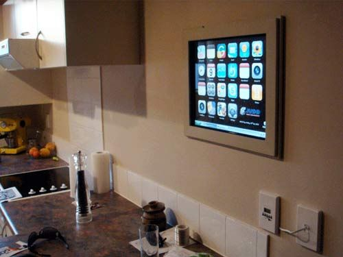 Build A Wall Mounted Kitchen Computer Wall Computer Diy Kitchen Build A Wall