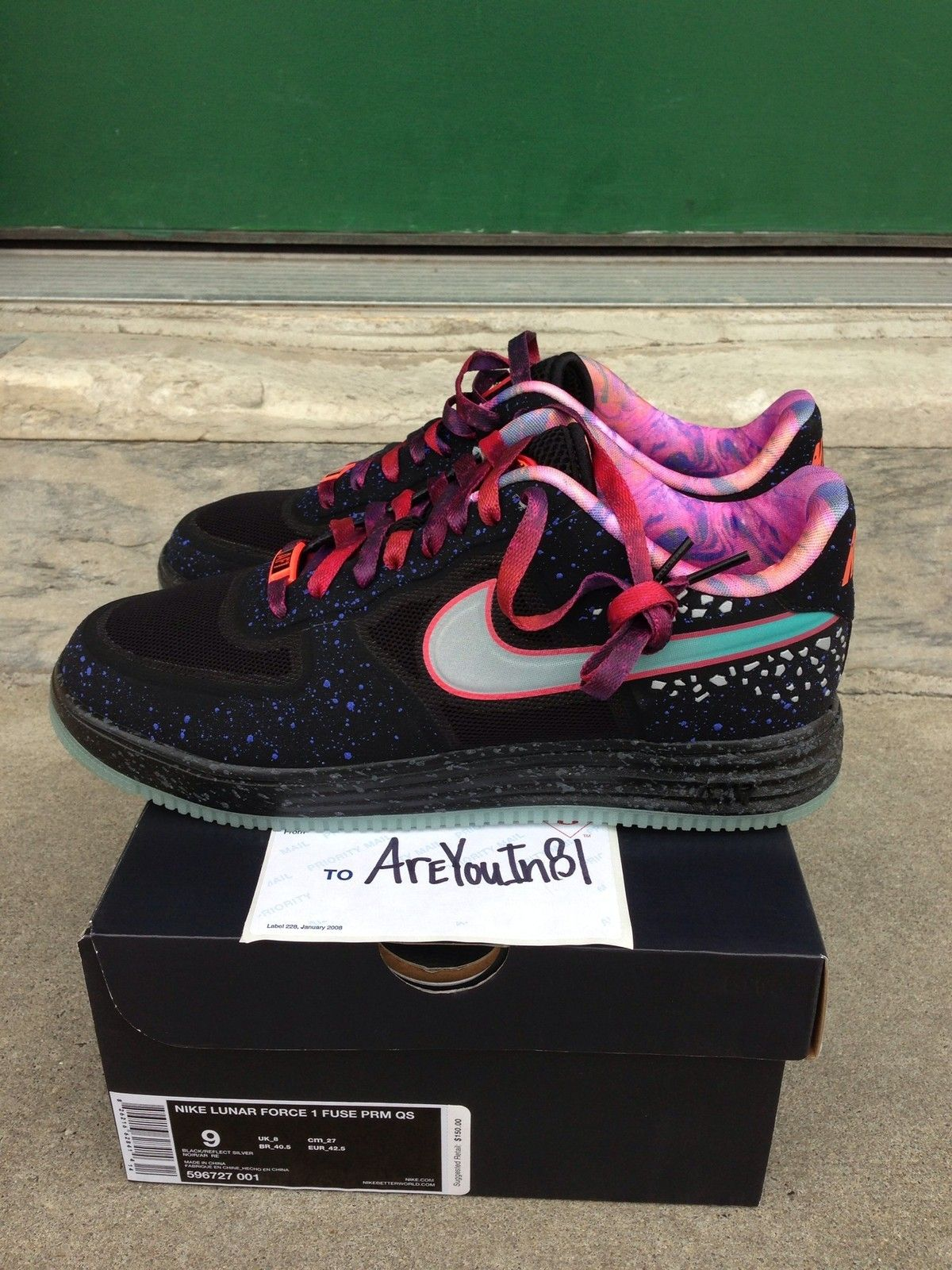 check out fa252 bd9ca Nike Area 72 Air Force One 1 Galaxy Glow in the Dark
