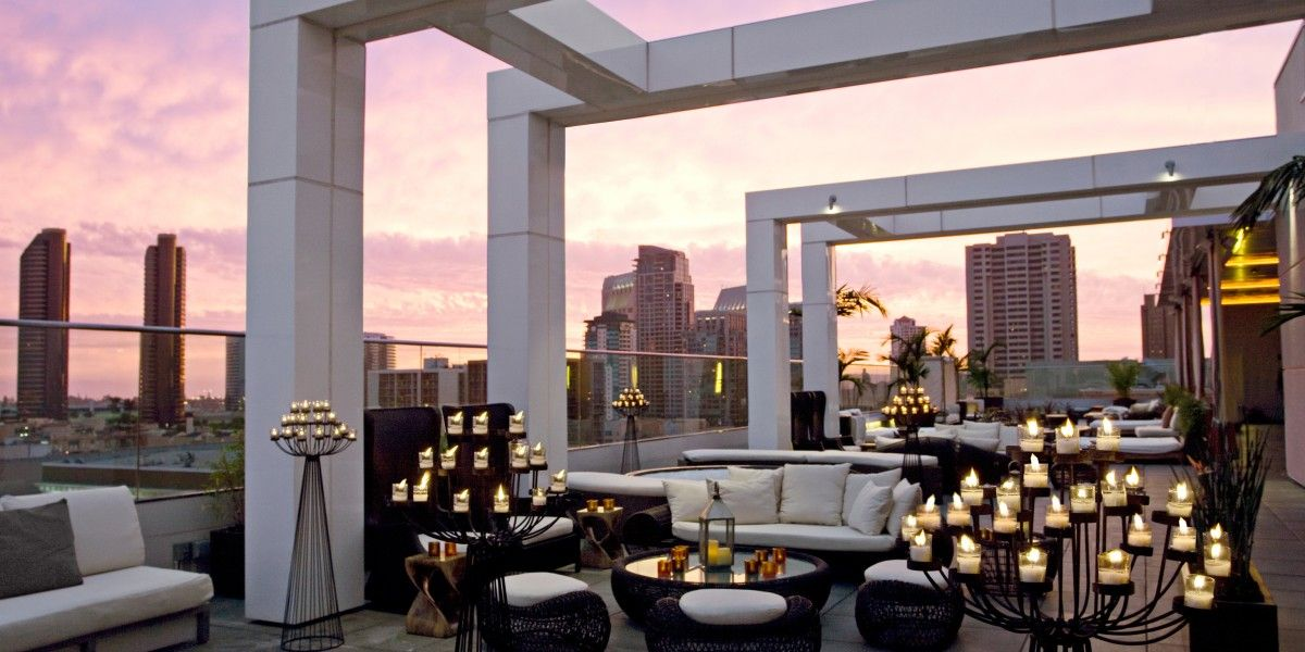 Andaz San Diego San Diego Ca Lounges In Nyc Rooftop