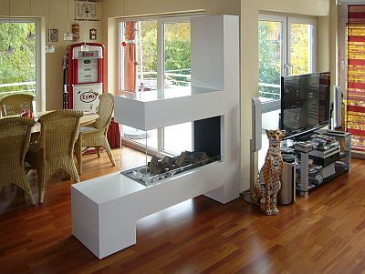 Gelkamin modern, Gel Kamine ohne Schornstein, Gelkamine ohne Rauch - wohnwand mit kamin