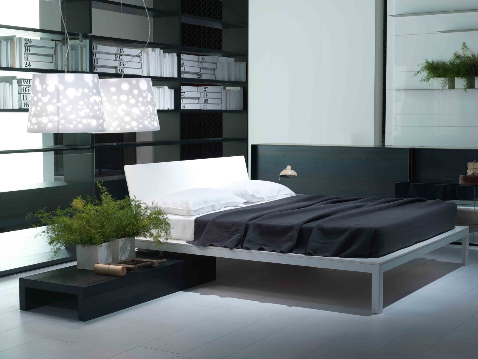 Modern contemporary furniture dallas home design with breathtaking grey iron bedframe within fabulous white leather headboard and comfy black comforter also