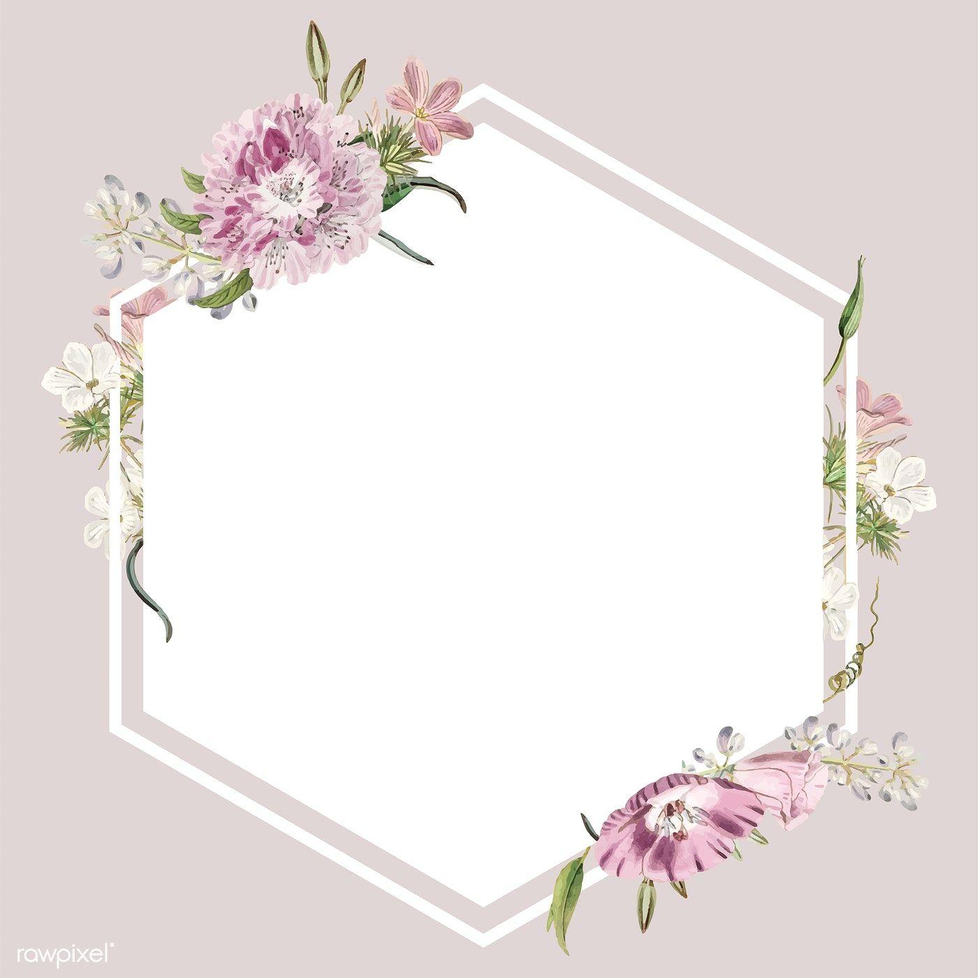 Colorful vintage floral design frame free image by