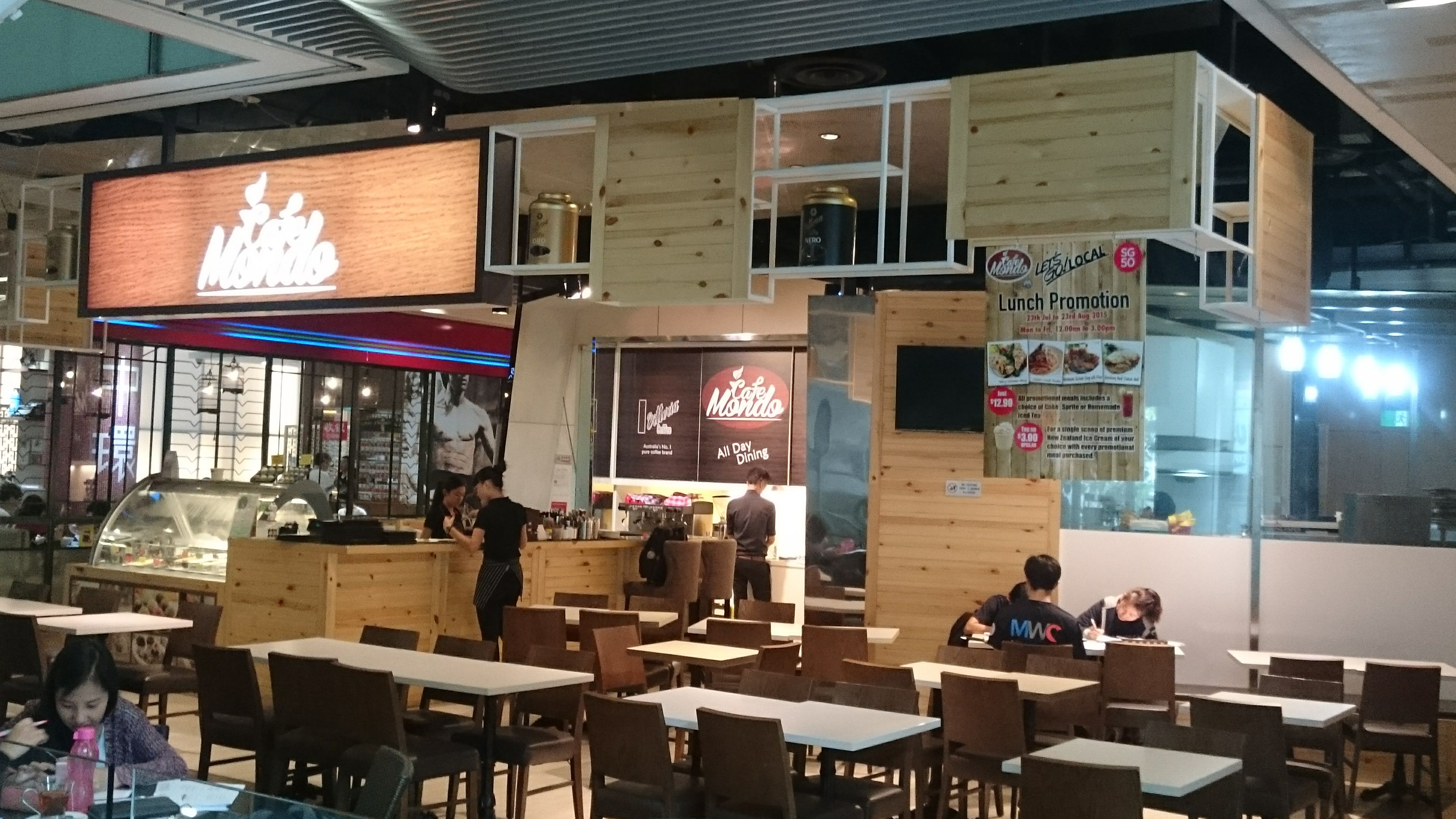 Cafe Mondo At Orchard Central Singapore Designed And Fitted Out In Double Quick Time By Posh Urban Pte Ltd Office Interiors Concept Architecture Interior