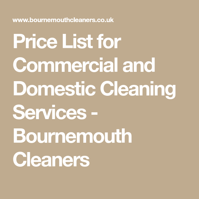 domestic cleaning prices