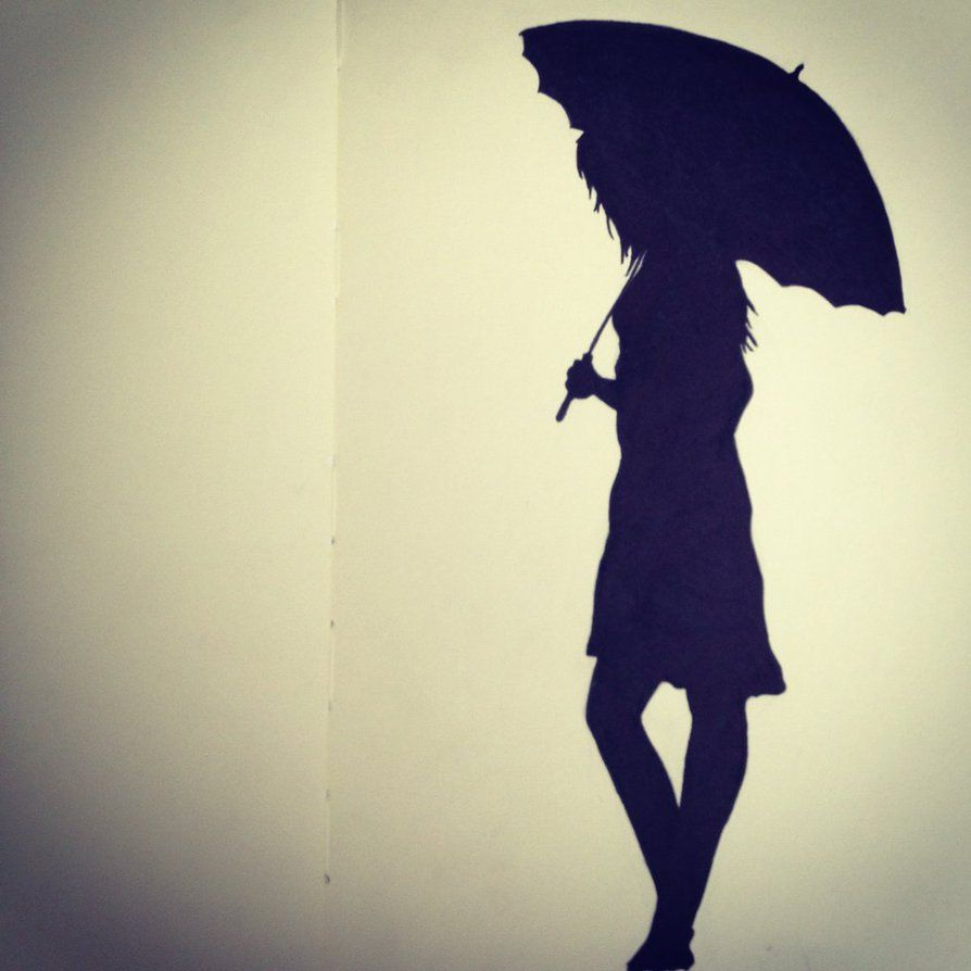 girl with umbrella silhouette - Google Search ...