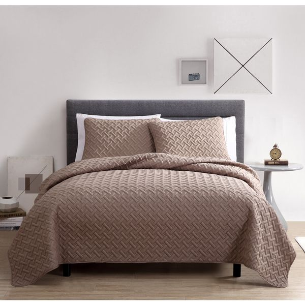 Master Bedroom Quilt vcny nina embossed 3-piece quilt setvcny | quilt sets and quilt