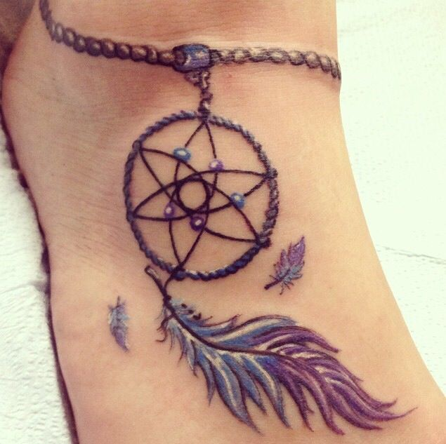 Cool Dreamcatcher Tattoo On Foot Tattoo Ideas Pinterest Delectable Dream Catcher Foot Tattoo