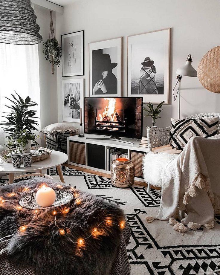 Eine weitere einzigartige Boho-Wohnzimmer-Idee ist für Sie da. Dieser Stil ist mit #boholivingroom