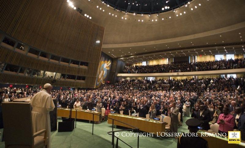 25-09-2015 Pope Francis in the USA - Visit to the United Nations- Visita a la sede de la ONU