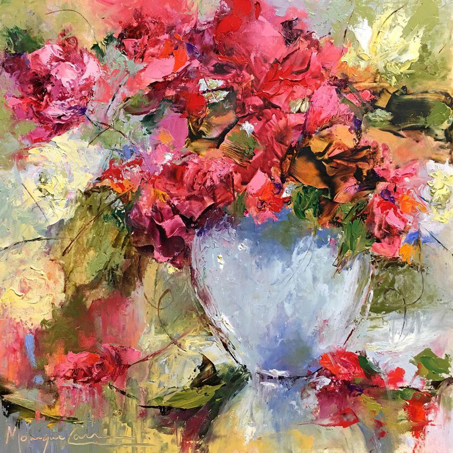 """Festive Joy by Monique Carr Oil ~ 12"""" x 12"""""""