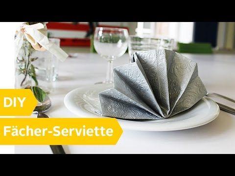 servietten falten facher der diy anleitung roombeez powered by otto youtube 2 farbig