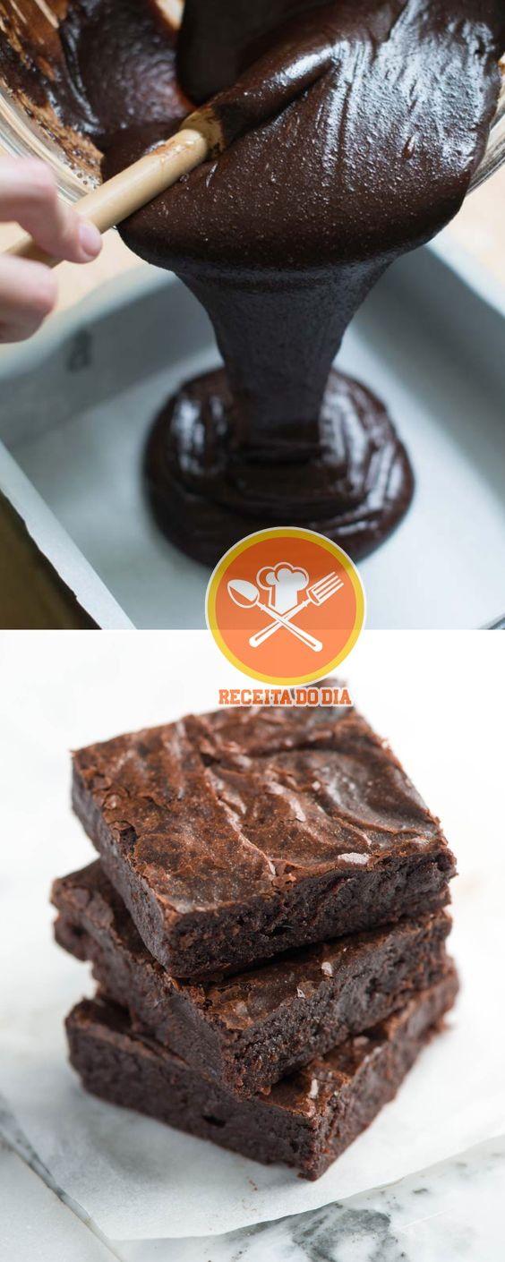Receita Fácil de Brownie Caseiro! Receita Fácil de Brownie Caseiro