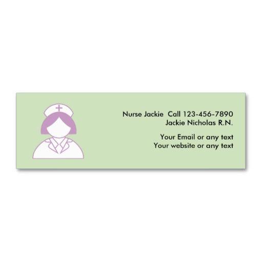 Nurse Medical Business Cards