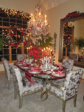 Christmas Dining Room  Traditional  Dining Room  Chicago Best Christmas Dining Room Review