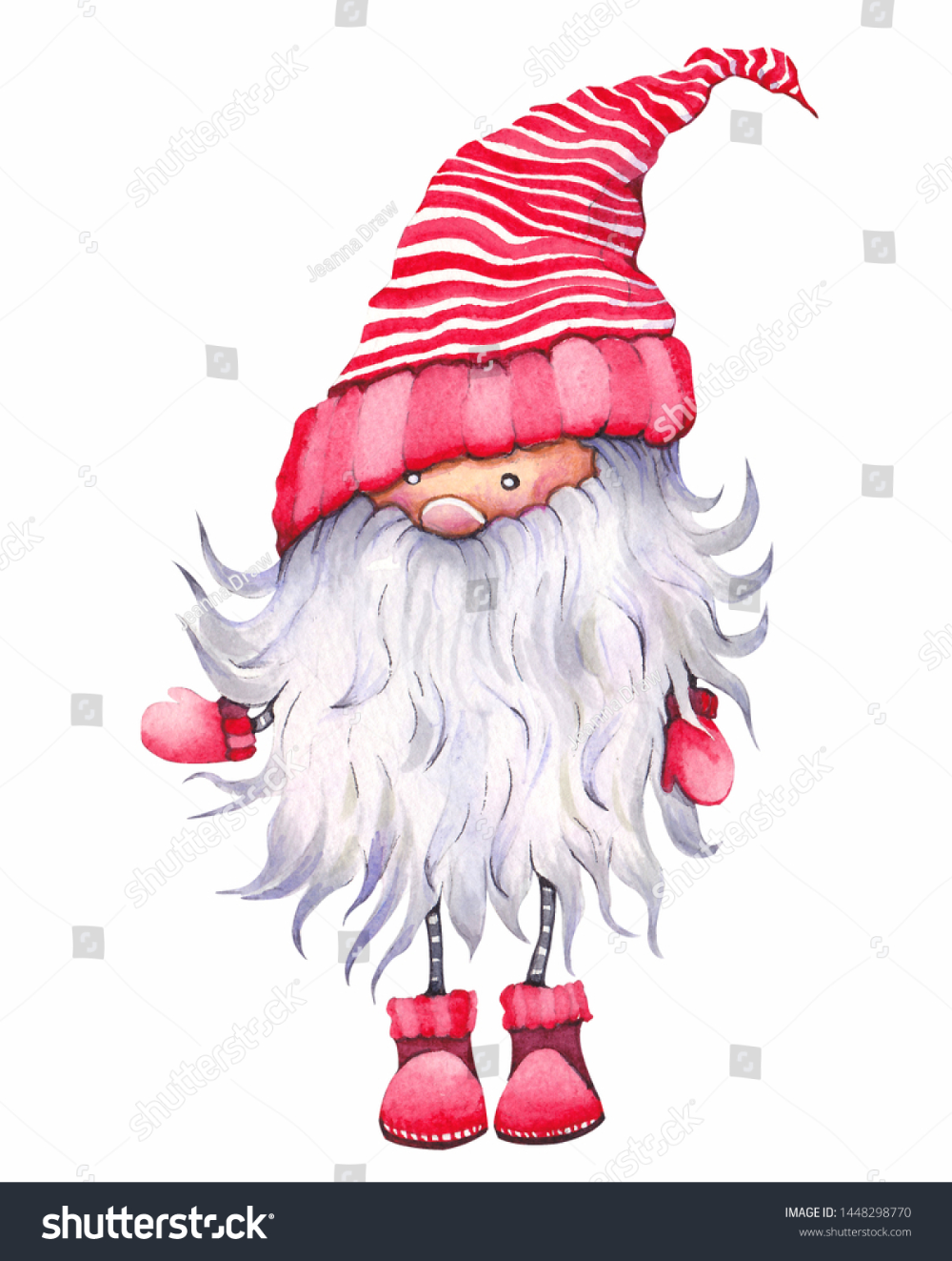 Christmas Cartoon Elf Known Scandinavian Dwarf Holidays Objects Stock Image In 2020 Christmas Art Christmas Cartoons Christmas Tree Clipart