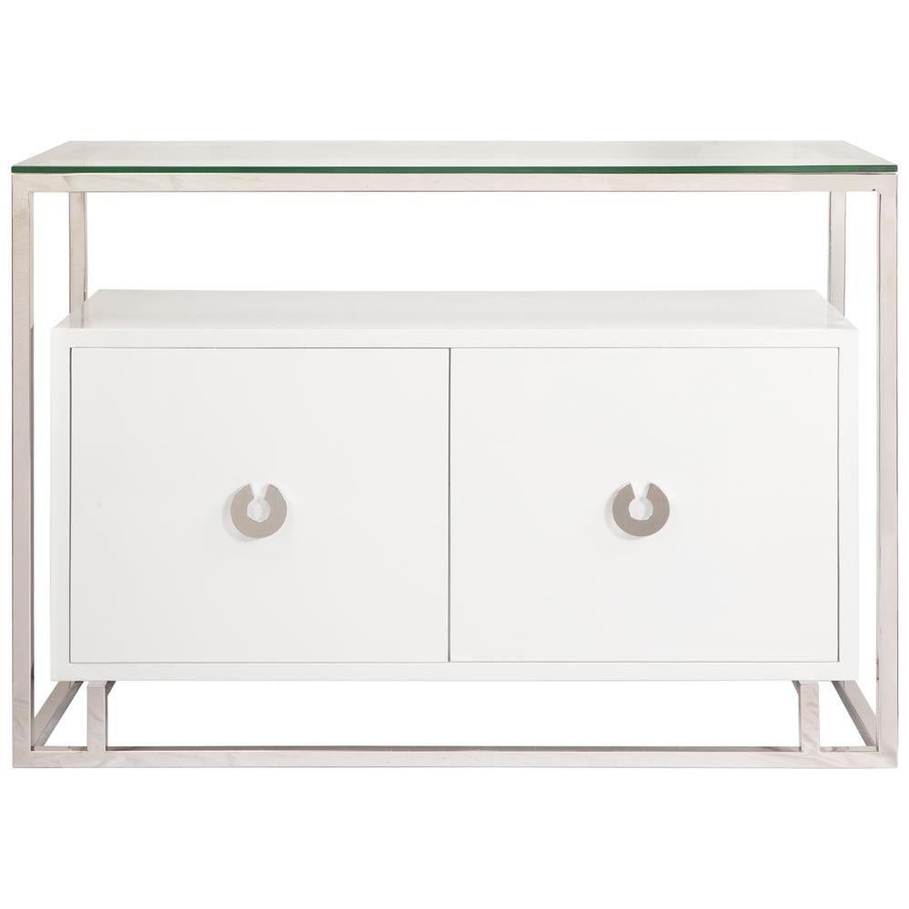 Master Bathroom Idea/ Nicholas Hollywood Regency White Nickel Media Cabinet Buffet | Kathy Kuo Home