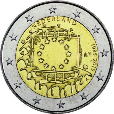 2 Euro Cuni 30 Jahre Europaflagge Un Europa Flagge 30er Jahre