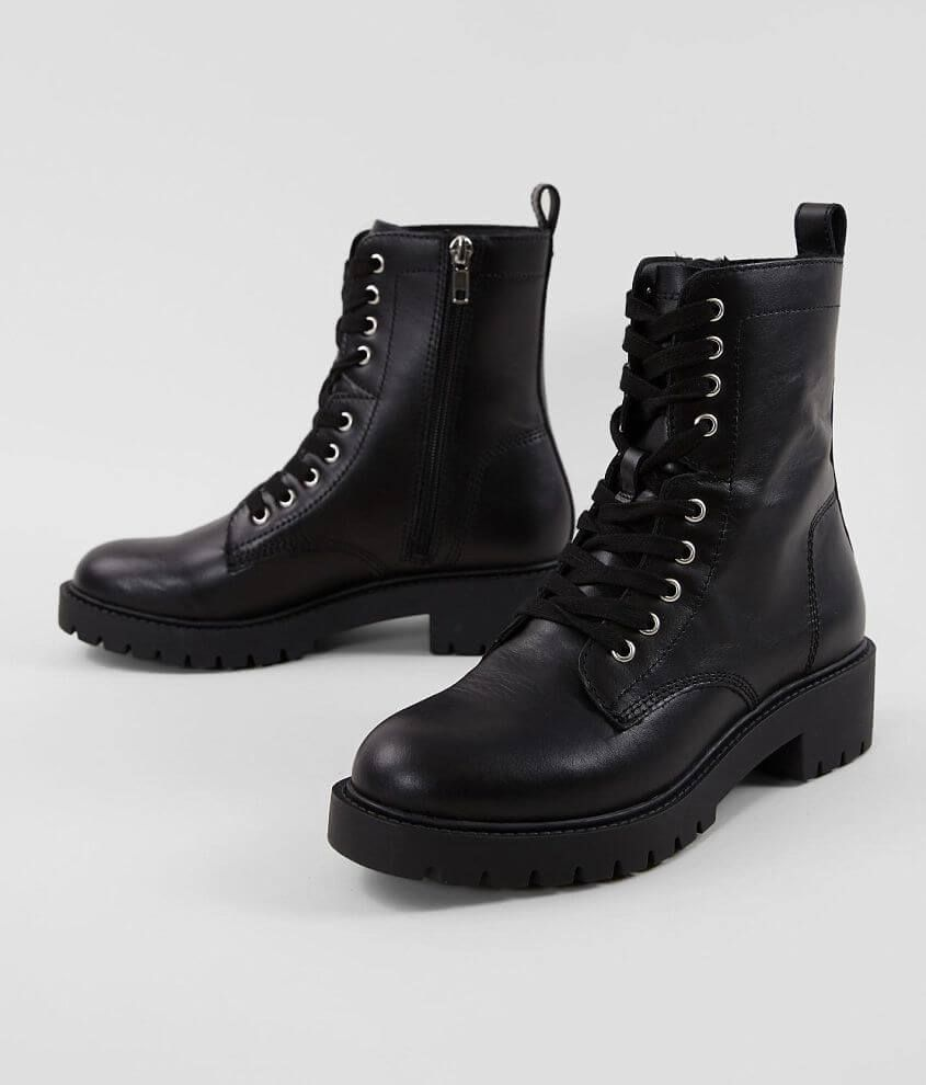 Steve Madden Guided Leather Combat Boot