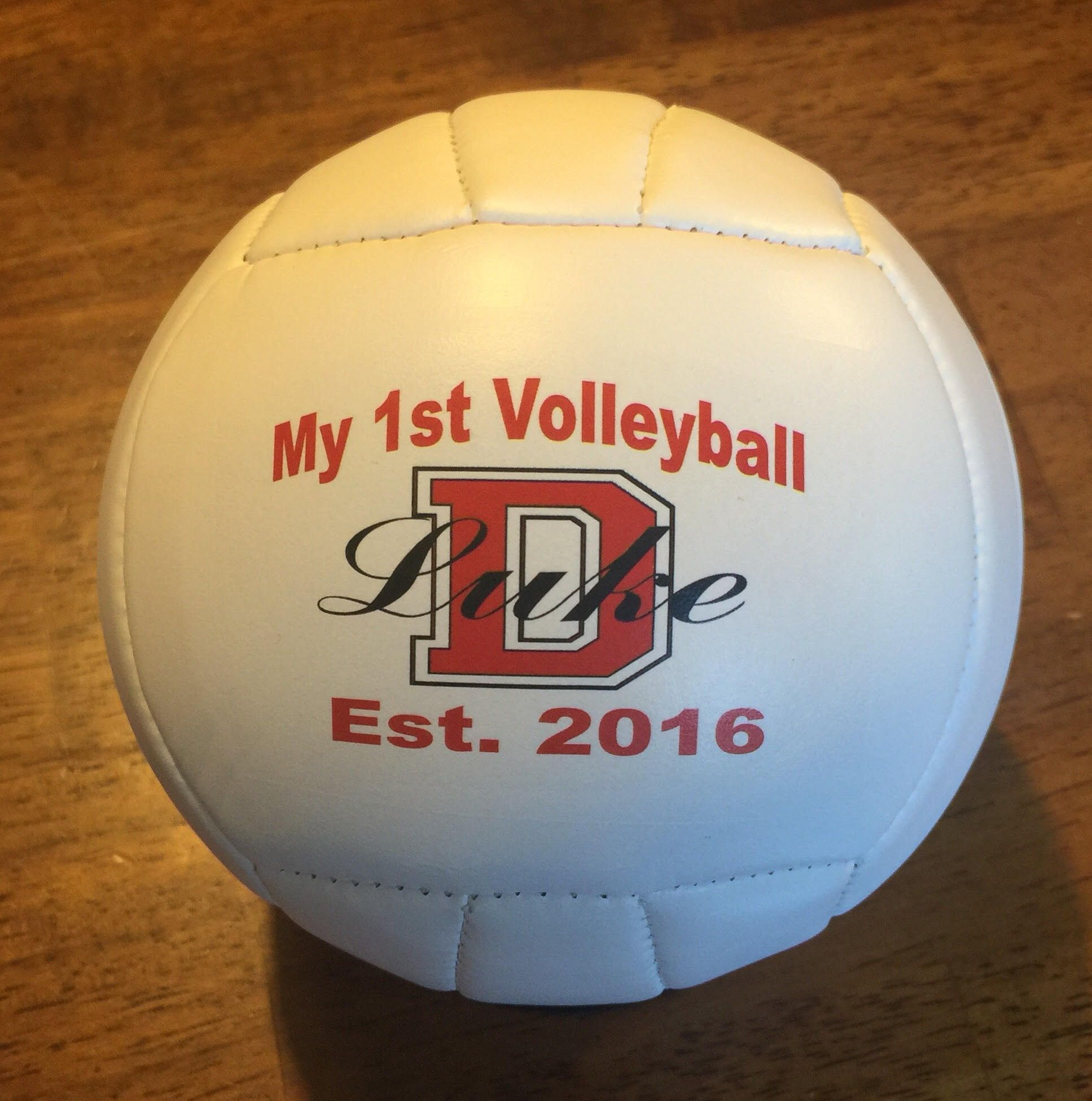 Our Personalized Volleyballs Come In Mini And Full Size Allowing Print On The Front And Back Volleyball Gifts Sports Gifts Personalized Gifts