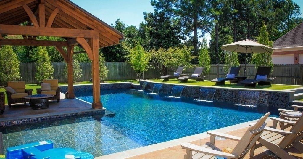 Hinterhof Pool Design Ideen #Badezimmer #Büromöbel #Couchtisch #Deko Ideen  #Gartenmöbel #