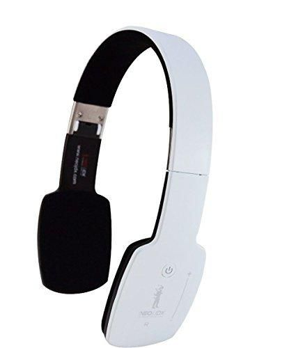 NeoJDX Milan II - Wireless Bluetooth Stereo Headphones with Built-In Microphone - Connects to 2 Devices - White