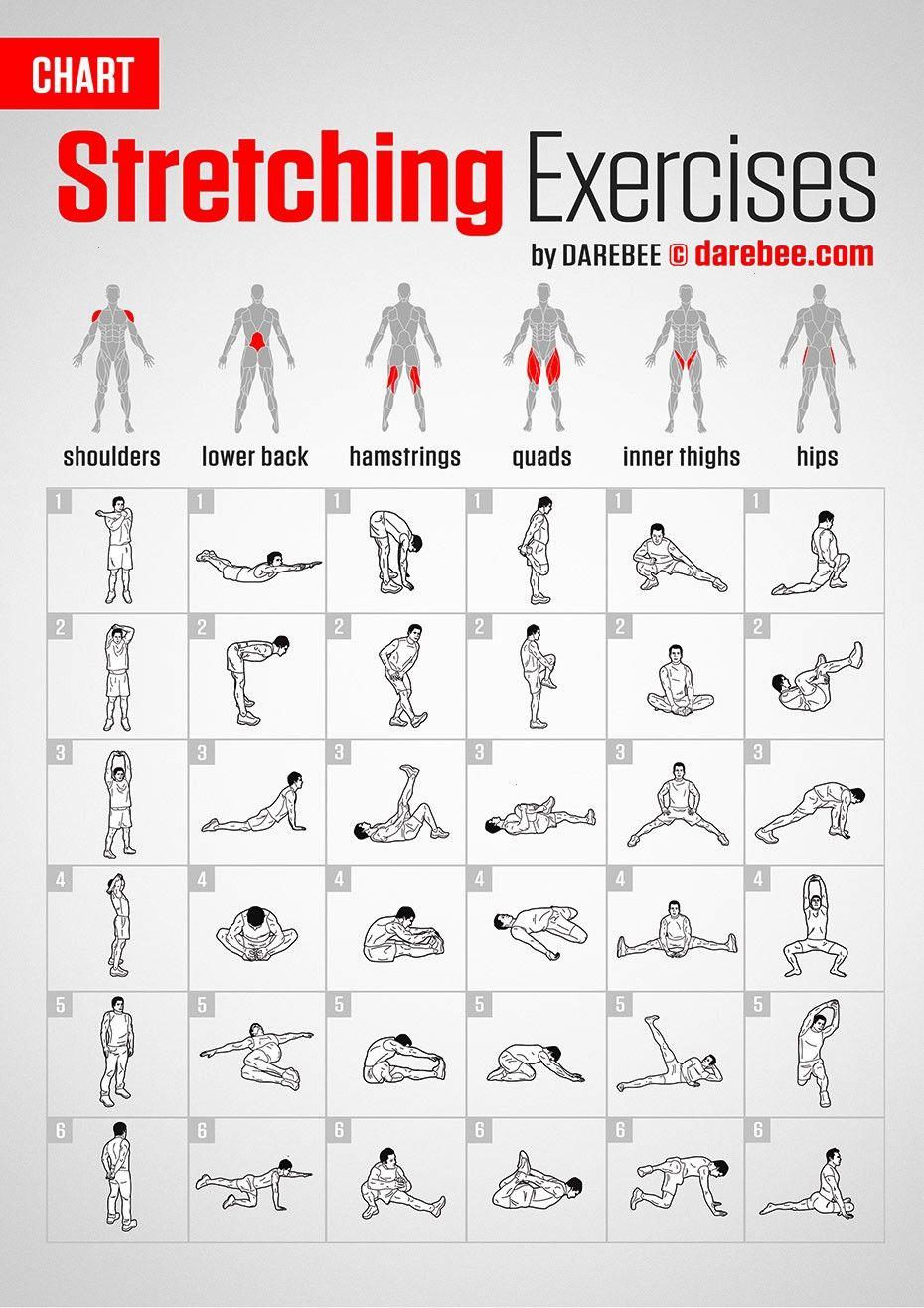 #fitnesschart #stretching #exercises #darebee #fitness #workout #chart #byStretching Exercises | Cha...