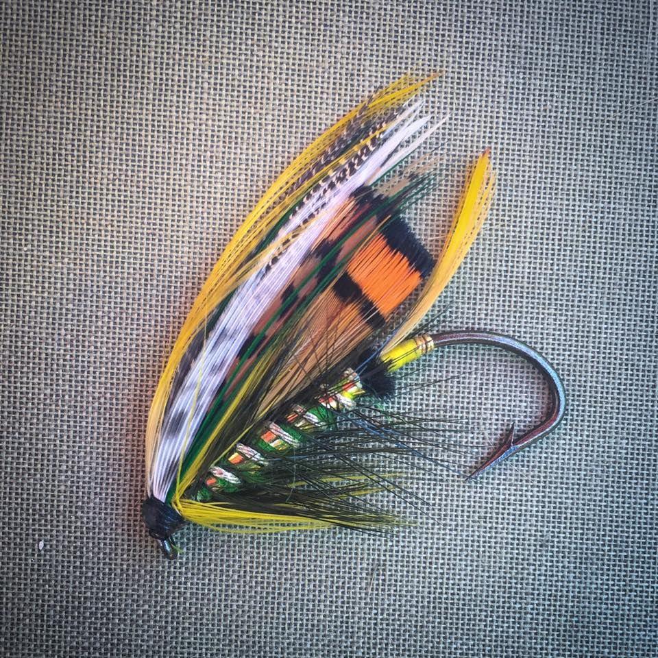 Green Highlander Full Dress  size 2//0 Salmon  Flies