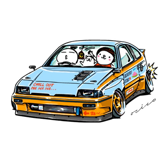 "car illustration ""crazy car art"" jdm japanese old school ""CRX"" original characters ""mame mame rock"" / © ozizo Official web shop ""STAY CRAZY (in Society6)"" Official web shop ""ozizo(in Redbubble"") ""Crazy Car Art"" Line stickers ""Crazy car Art"" Telegram..."