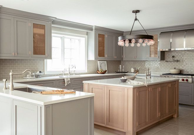 Grey Kitchen Grey Kitchen Features Gray Shaker Cabinets Paired With